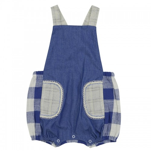 Arthur Ave Blue Pocket Overalls