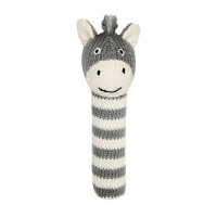 Lily and George Bowie Zebra Squeaky Rattle